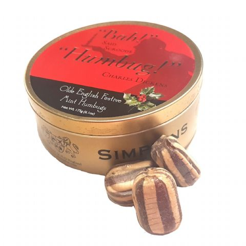 Bah Humbug Mints - Festive Limited Edition Simpkins Traditional Travel Sweets Tin 175g